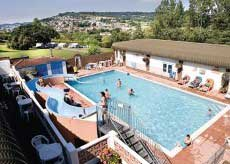 Newlands Holiday Park With Pool At Charmouth In Dorset