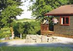 Lakeside Holiday Lodge at Garnffrwd Park near St Clears in Carmarthenshire, South Wales
